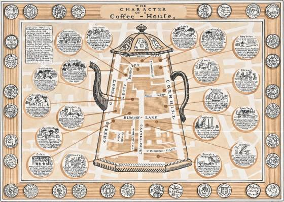 Adam Dant Map-Coffee Houses