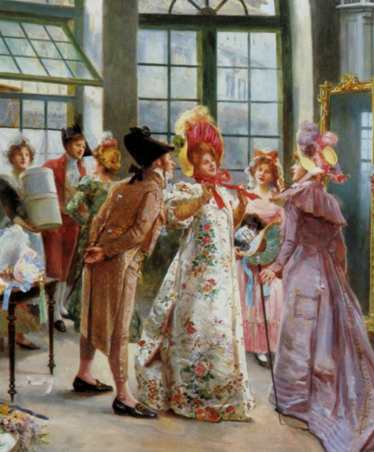 Ladies at the Milliners by Alonso Perez