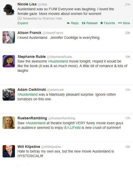 Austenland Review Tweets