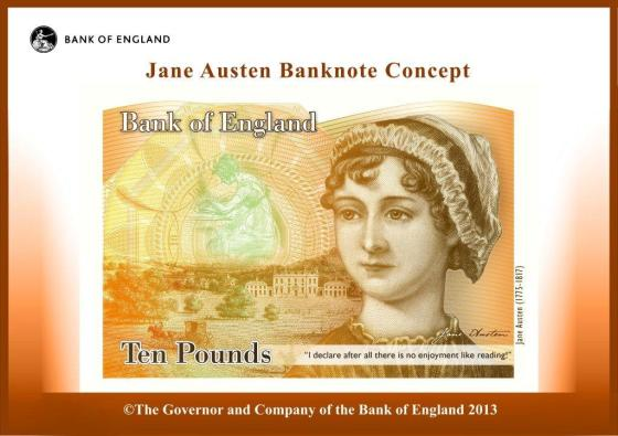Bank of England Jane Austen 10 Pound Note