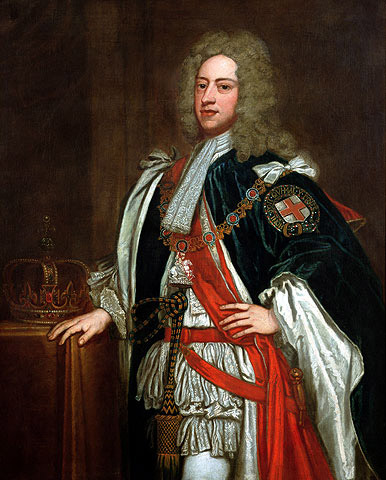 King George II reigned from 1727 to 1760
