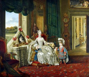 Queen Charlotte with her two eldest sons