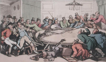 The Gaming Table by Thomas Rowlandson