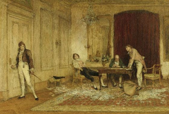 Hard Hit by Sir William Quiller Orchardson