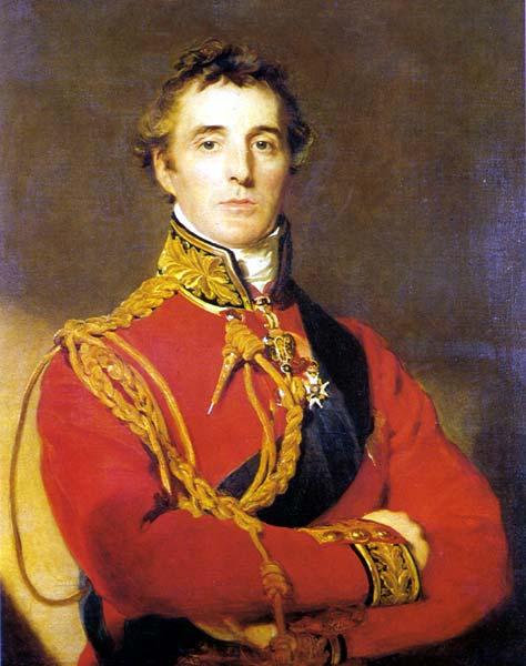 Arthur Wellesley, Duke of Wellington, in 1815 just before he defeated Napoleon at Waterloo