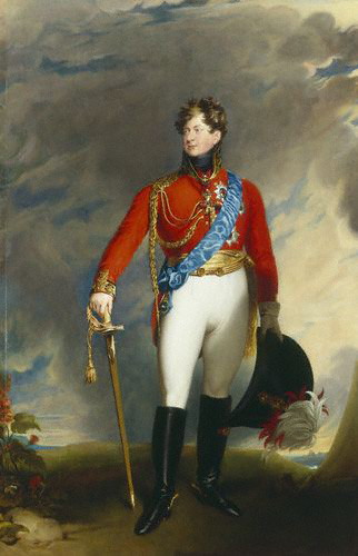Even the Prince of Wales and future King George IV wore a red coat from time to time. An 1815 painting by Sir Thomas Lawrence