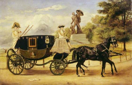 The Dress Carriage of Viscount Eversley in Hyde Park by Edwin Frederick Holt