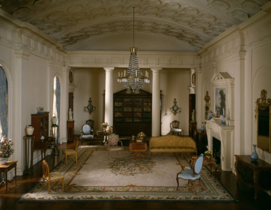 An English drawing room of the Georgian Period, 1770-1800