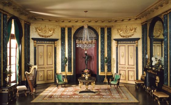 A French anteroom of the Empire Period, 1810-1820 (from The Thorne Miniature Room Collecton)