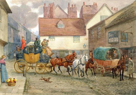 The London to York Coach by George Goodwin Kilburne