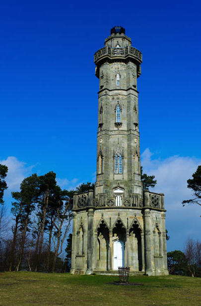 Brizlee Tower at Alnwick Northumberland built ca 1781