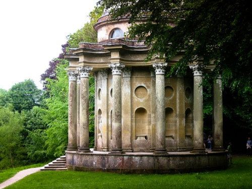 Temple of Apollo_Stourhead gardens_Wiltshire from pinterest