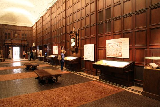 Interior view of the Folger Shakespeare Library, courtesy of Google Maps.
