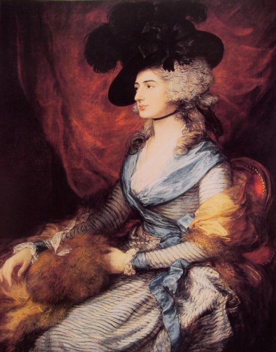 Mrs. Sarah Siddons by Thomas Gainsborough, 1785.
