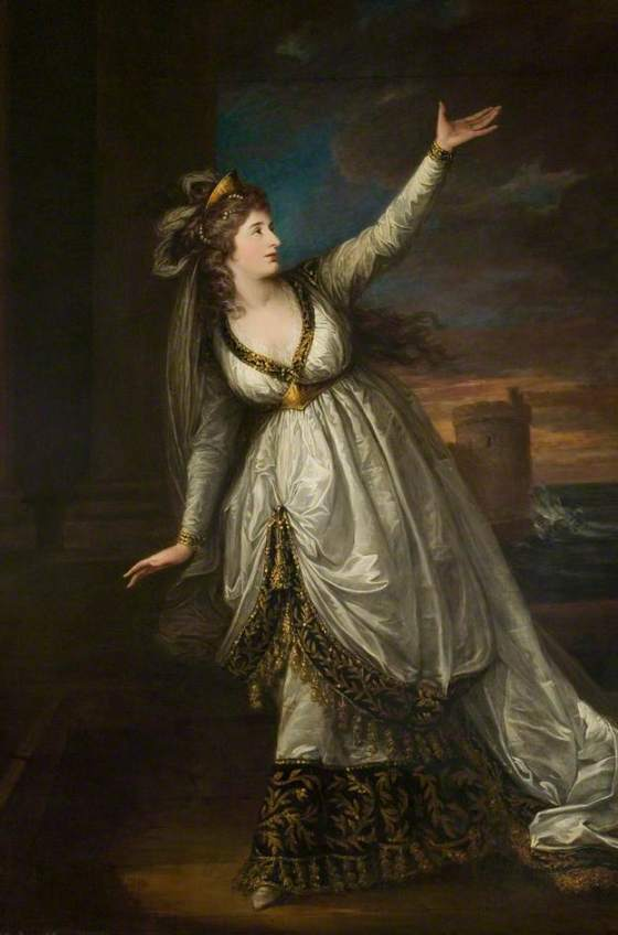 Sarah Siddons as Euphrasia, by William Hamilton, 1784. (c) Stratford-upon-Avon Town Hall; Supplied by The Public Catalogue Foundation