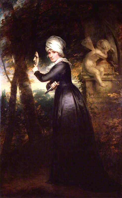 Sarah Siddons by Sir William Beechey, 1793. From the National Portrait Gallery, London; Supplied by The Public Catalogue Foundation