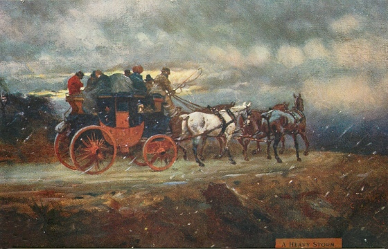 A Heavy Storm, by Gilbert Wright, 1907