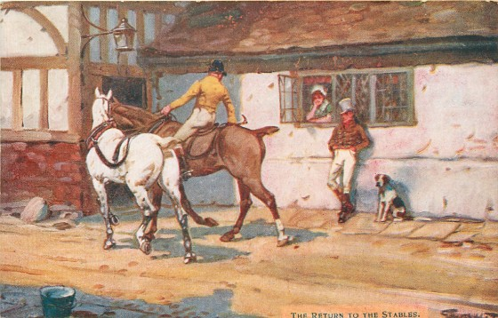 The Return to the Stables, by Gilbert Wright (1911)
