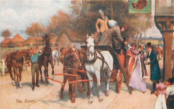 The Start, by Gilbert Wright (1911)