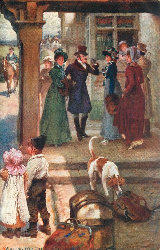 Waiting for the Coach, by Gilbert Wright (1908)