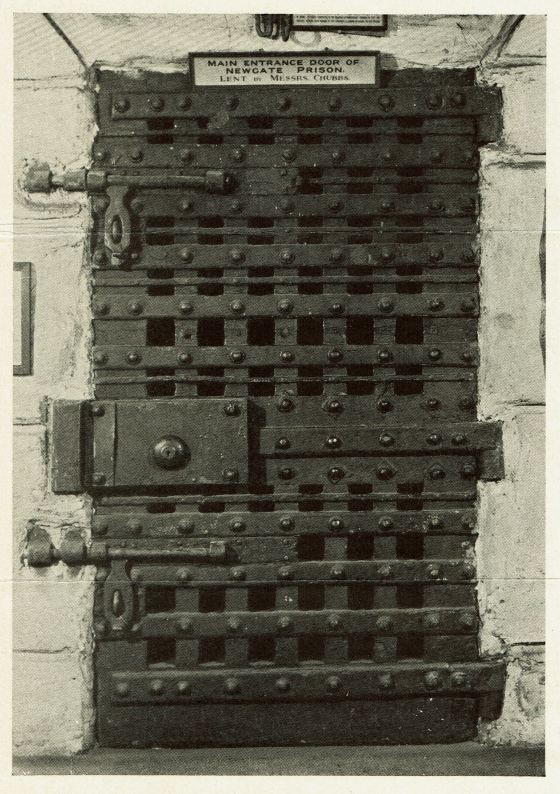 The main door of Newgate Prison.