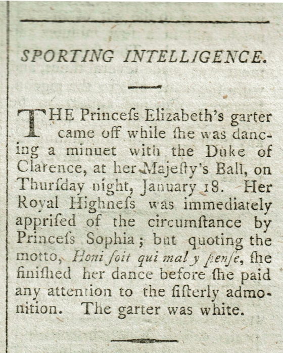 From the January 1798 edition of The Sporting Magazine