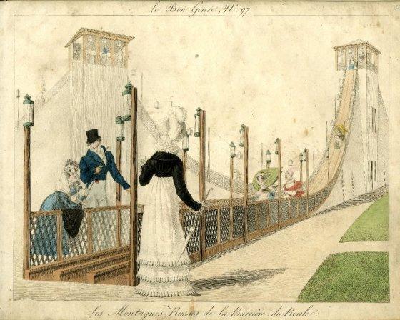 A Helter Skelter slide; 1816.