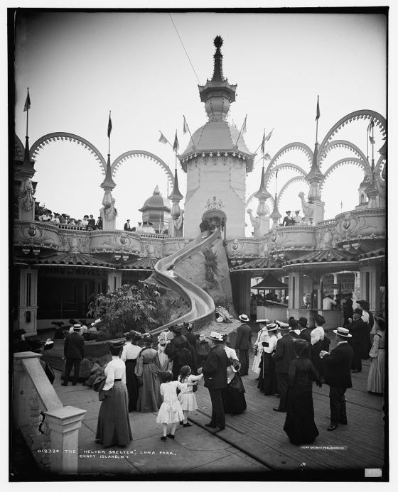 The Helter Skelter at Coney Island, New York in 1905
